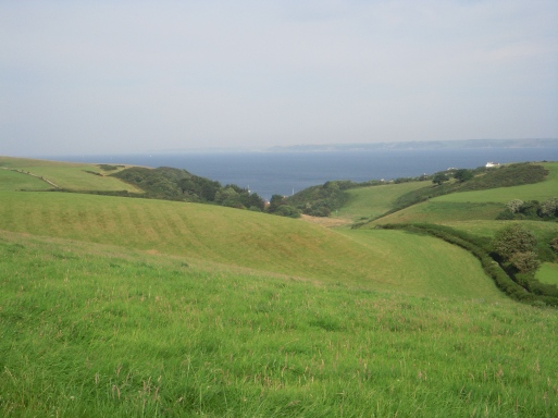 The view from our campsite over Hope Cove!