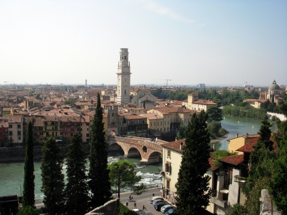 Verona - city of spectacular views! And my former home