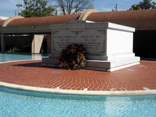 A solemn resting place for MLK Jr and his wife Coretta.