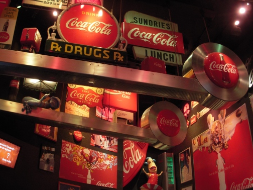 Inside the goofy, informative, and entertaining 'World of Coca Cola'.