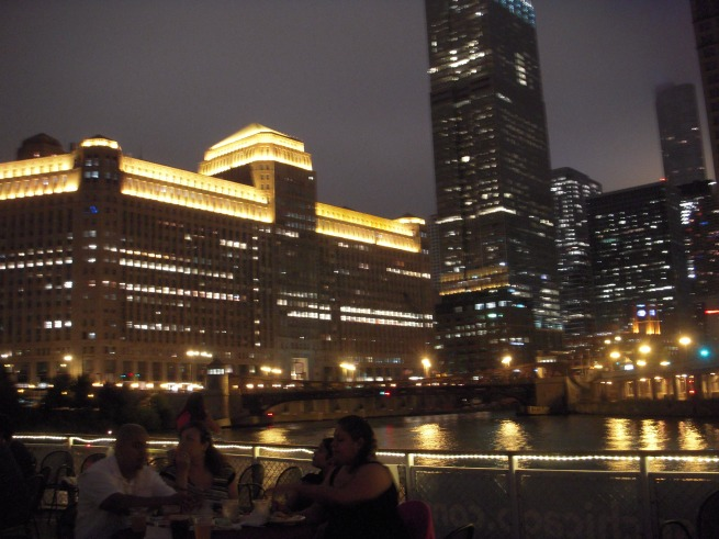 A view ondeck and the Merchandise Mart