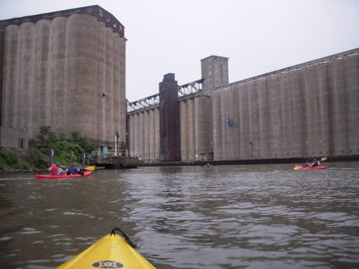 On the 'Silo City' kayak tour