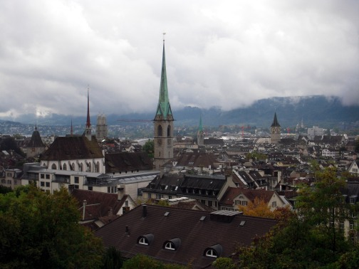 View over Zurich from the University