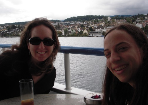 Taking a cruise on Lake Zurich