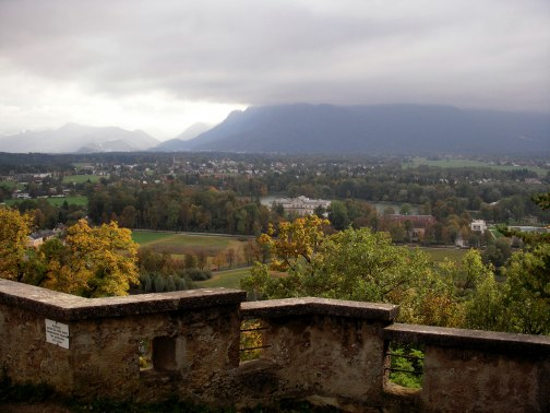 The view south along the Monchsberg