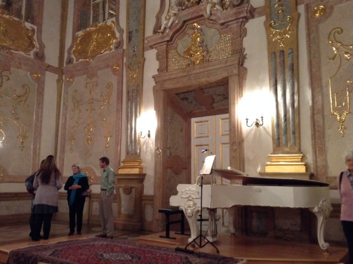 Attending a concert in the Mirabell Palace