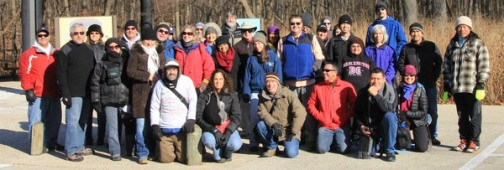 What a great group of people on a winter hike!