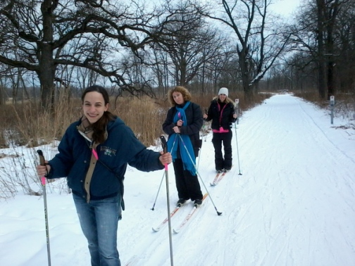 Friendly faces on a cross country skiing outing.