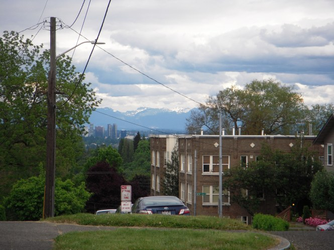 Looking down from a high point in the comfortable Capitol Hill neighborhood.