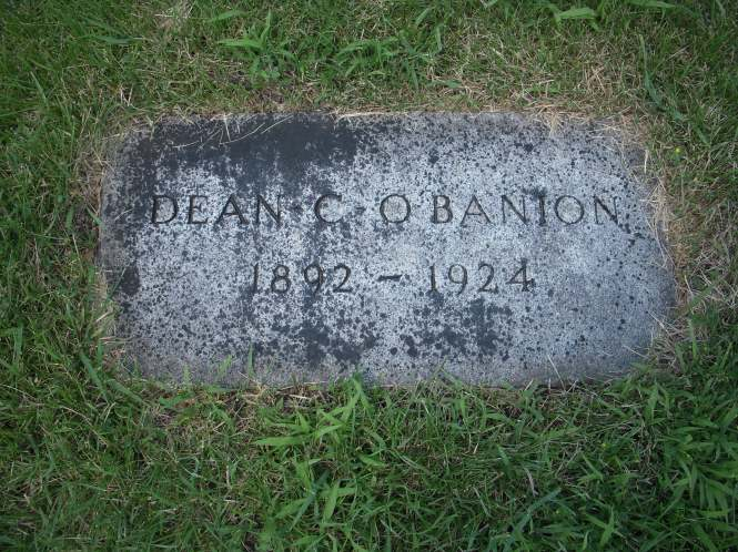 Dean or 'Dion' O'Banion, the Irish-American mobster.