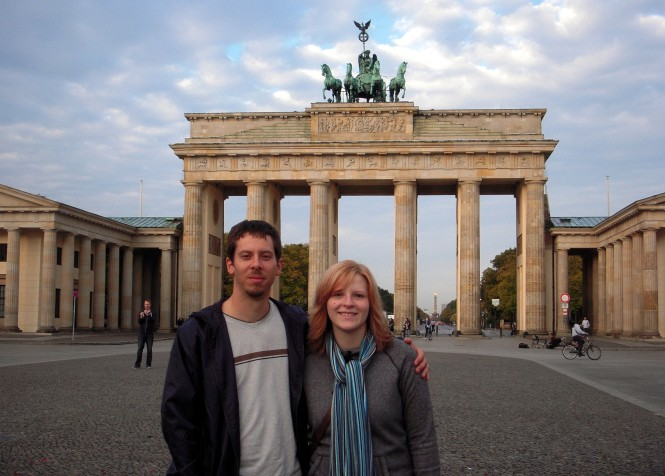 Brian and Jessica at the Brandenburg Gate in the center of Berlin.