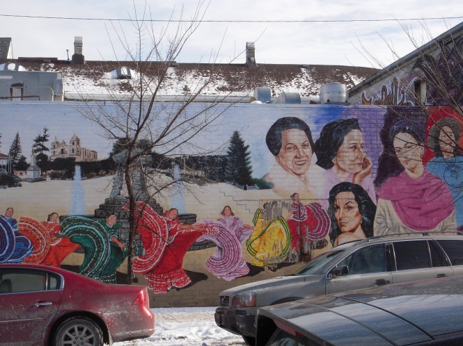 A mural in the Pilsen neighborhood