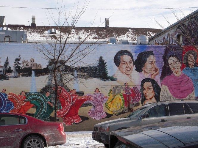 A mural in the Pilsen neighborhood