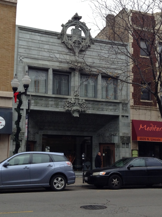 The exterior of the old Krause Music Store on Lincoln Avenue.