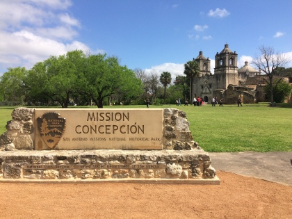 First stop on the tour, Mission Concepción